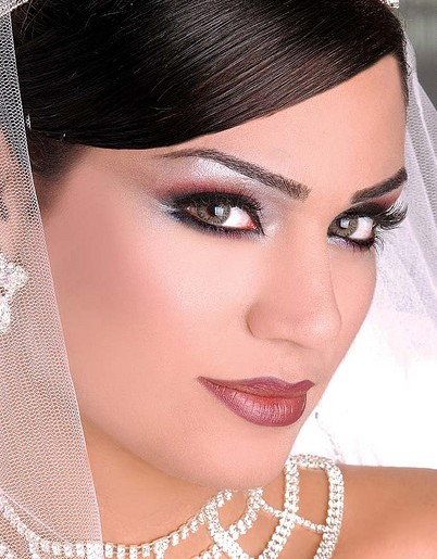 Model  Customized Bridal Hair Styles And Professional Bridal Makeup For