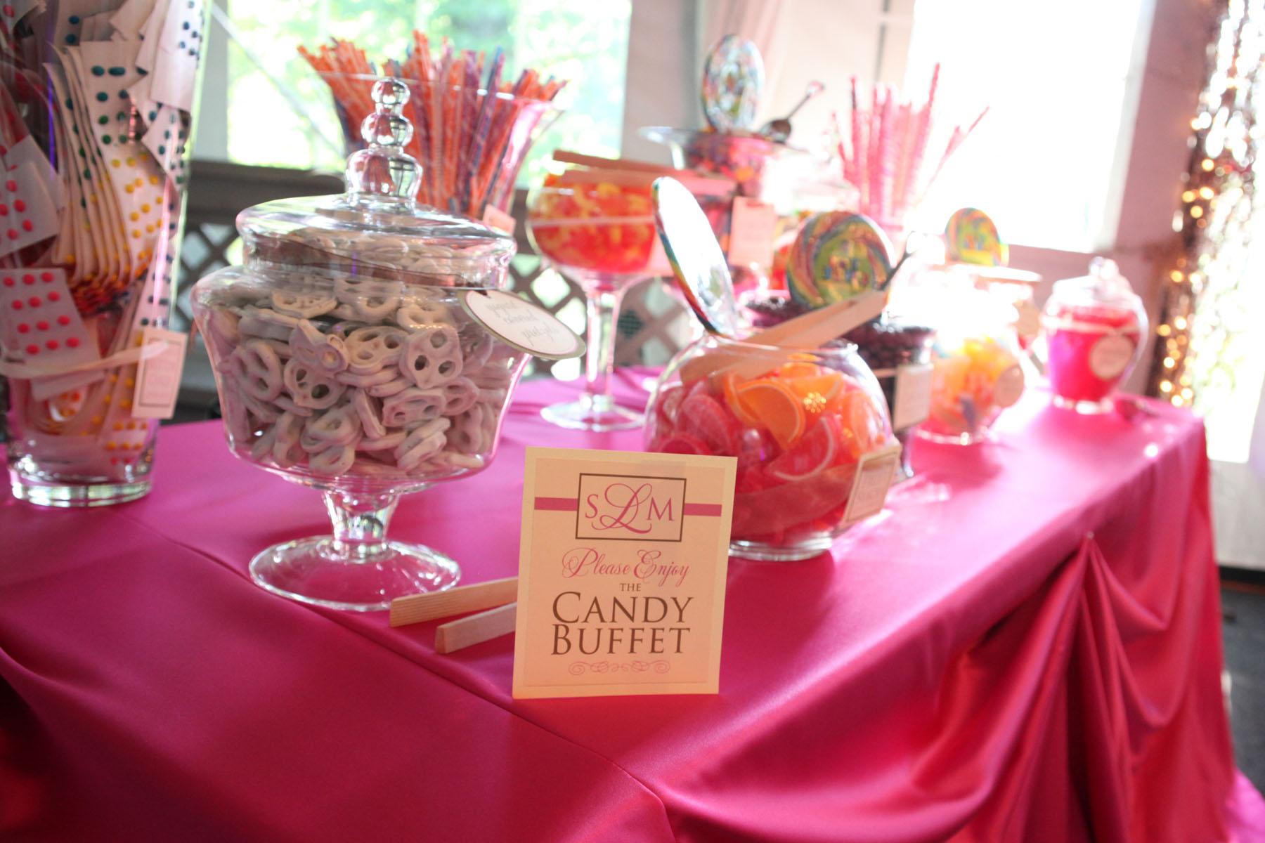diy candy bar wedding candy bar Candy buffets