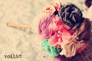 How to Make an Easy Fabric Flower Bouquet for Your Wedding