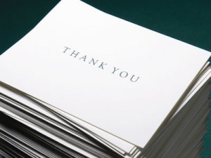 Etiquette for Writing Wedding Thank You Notes