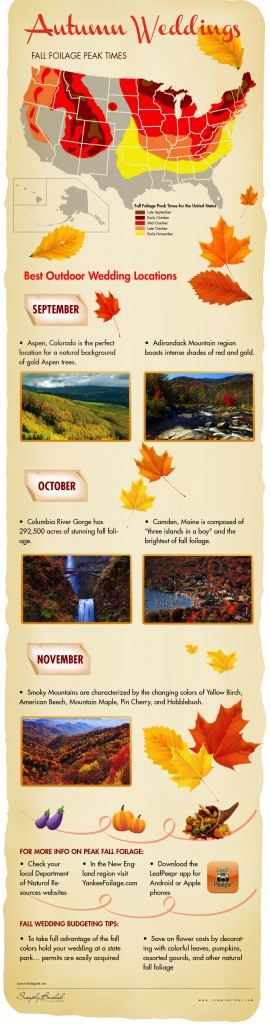 Locations for Autumn Weddings