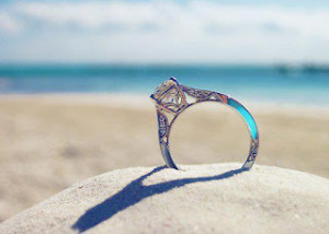 ring at beach