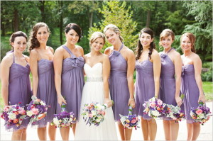 different bridesmaid styles